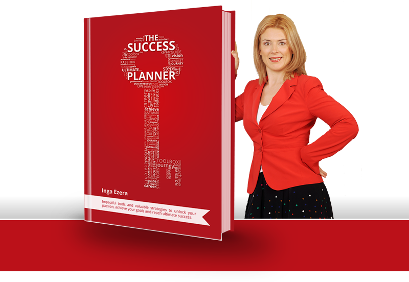 Inga Ezera with The Success Planner Book