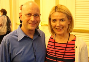 Inga Ezera & Darren LaCroix, World Champion of Public Speaking, keynote speaker, author, founder of The Humor Institute, Inc.
